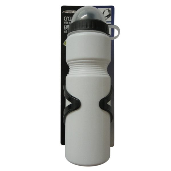 Bidon 750ml Wit + Houder