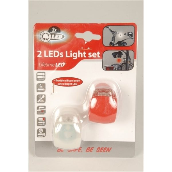 Fietsverlichting set Led Siliconen Lifetime 31298